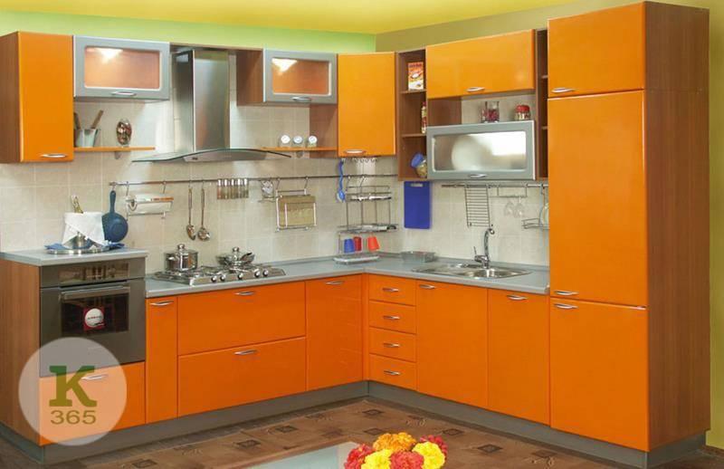 Оранжевая кухня Элегия артикул: 208013