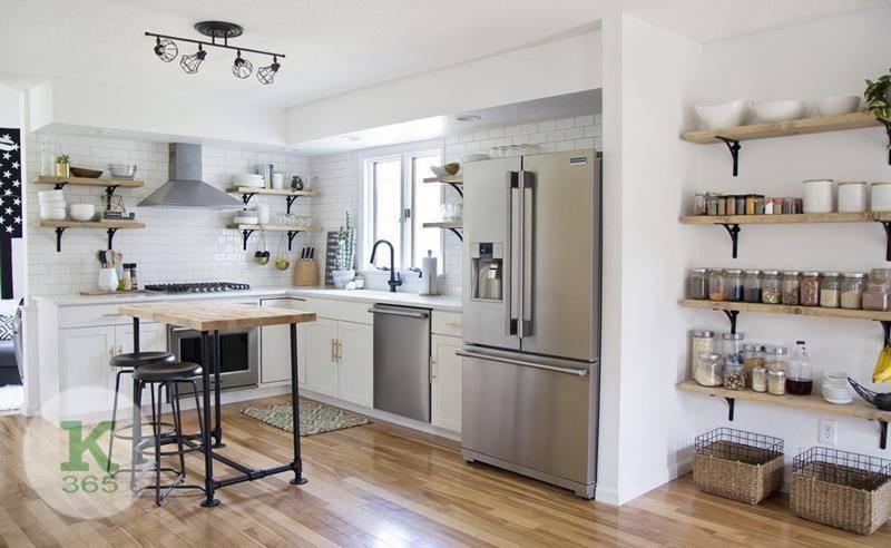Кухня с открытыми полками Атланта Квадро артикул: 353641