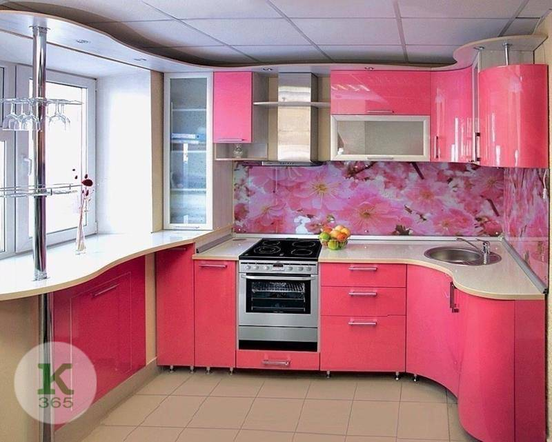 Розовая кухня 3 бобра Квадро артикул: 491041